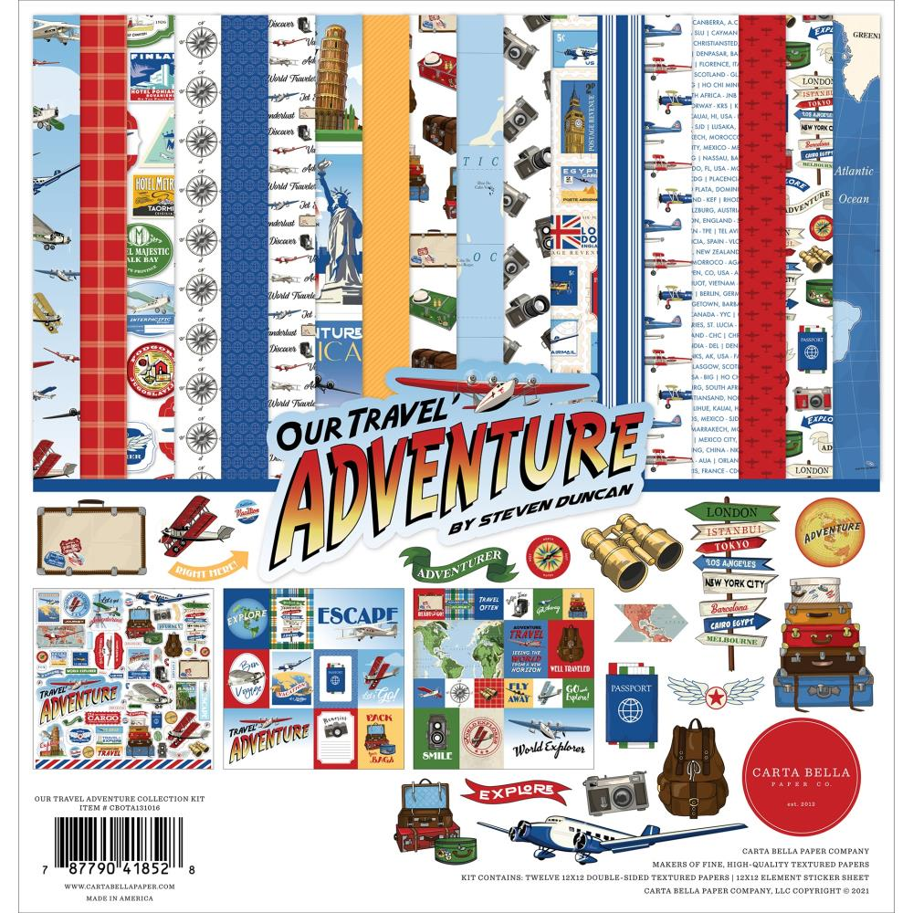 CARTA BELLA Our travel adventure- Pack 30 x30