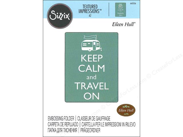 Plaque d'embossage SIZZIX - Keep calm and travel on