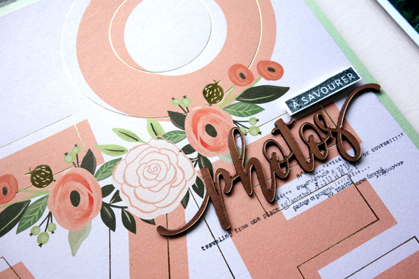 Mot Photos en acrylique Rose Gold (Scrapmouset)
