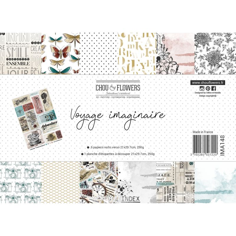 CHOU & FLOWERS  - Collection Voyage imaginaire