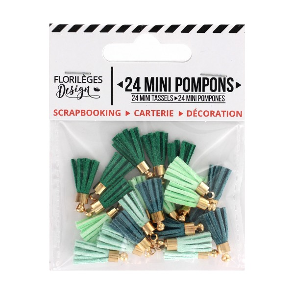 Mini Pompons - SOFT & GREEN