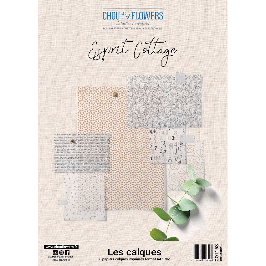 CHOU & FLOWERS  - Collection Esprit Cottage Calques