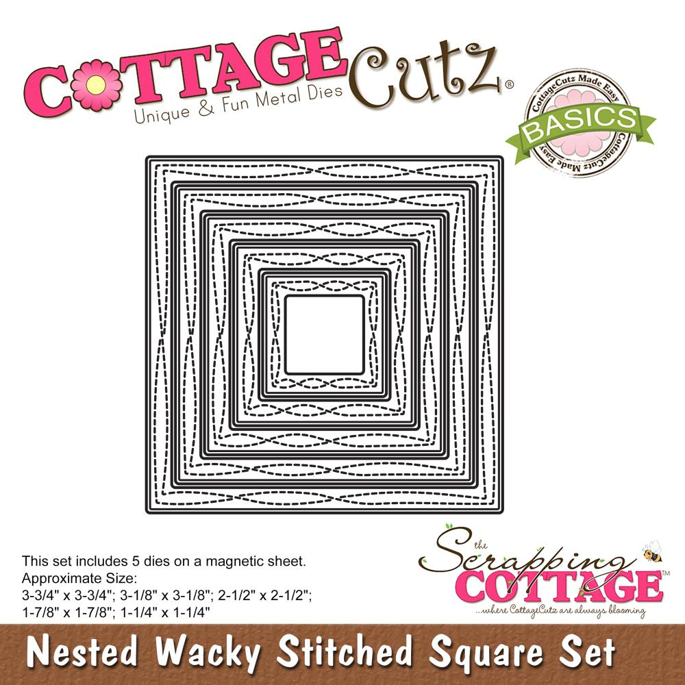 Die COTTAGE CUTZ - Nested Stiched Square set