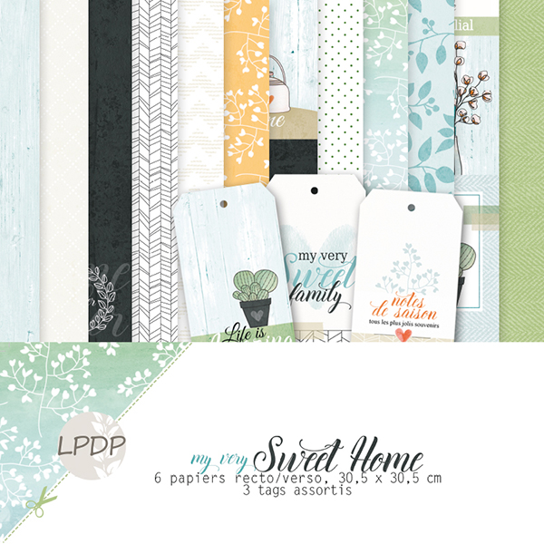 Pack 30 x 30 - LES PAPIERS DE PANDORE My very Sweet Home