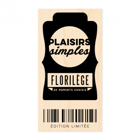 Tampon bois - Plaisirs simples