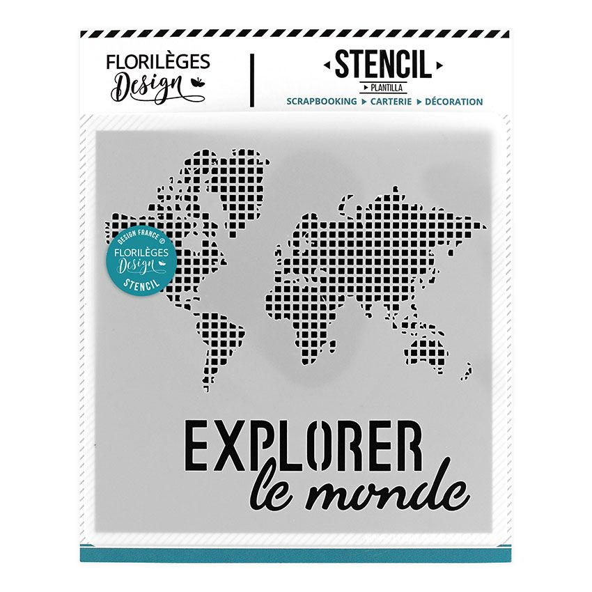 Pochoir Explorer le monde