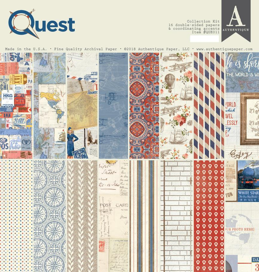 AUTHENTIQUE PAPER Quest - Pack 30 x30