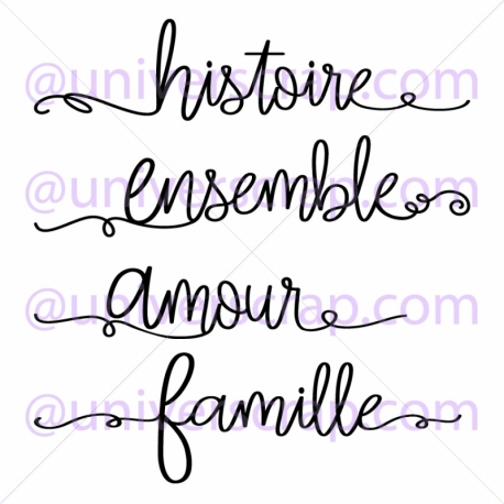 Tampon - 4 Mots Famille