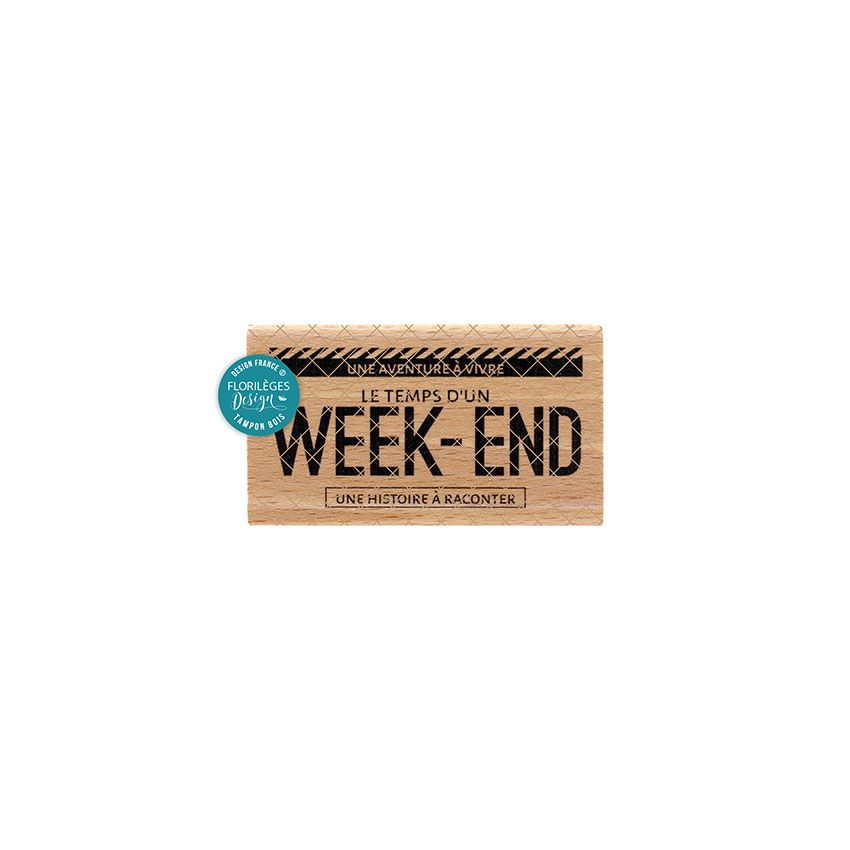 Tampon bois - Week End