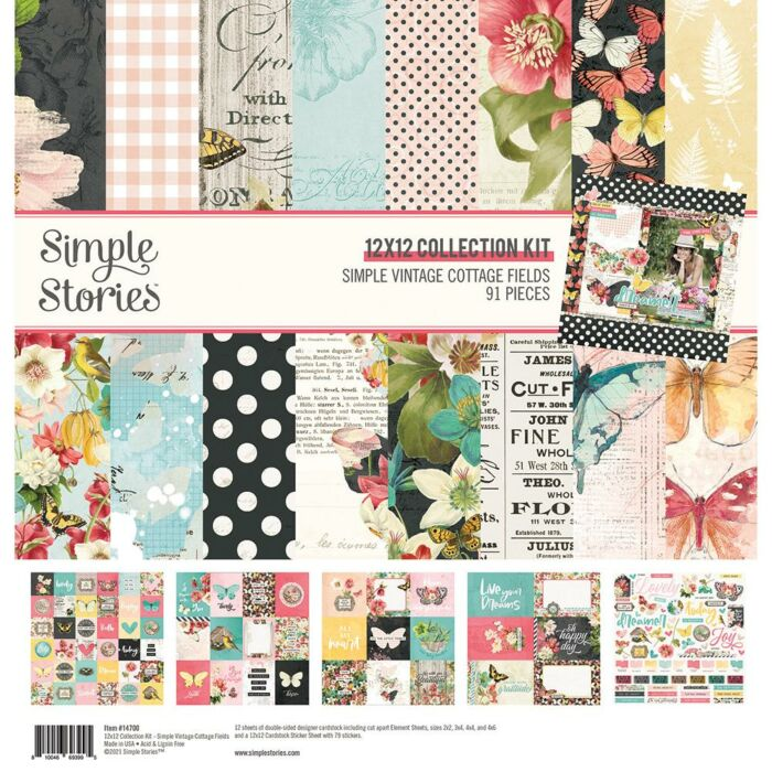 SIMPLE STORIES - Simple vintage cottage fields Pack 30 x30